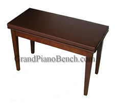 Walnut Piano Bench upholstered padded top music compartment