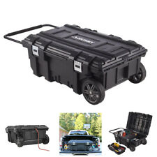 35 in. Mobile Job Box Rolling Portable Tool Storage Cart Weather Proof Container
