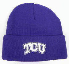 6bcc9d8f61d TEXAS CHRISTIAN TCU HORNED FROGS NCAA BEANIE TOP OF THE WORLD KNIT CAP HAT  NWT!