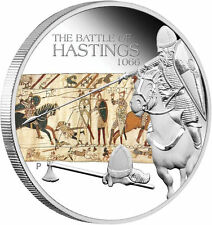 Tuvalu 2009 THE BATTLE OF HASTINGS 1066 $1 Famous Battles in History 1 Oz Silver