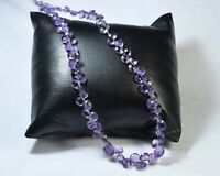 "Z-0884 Amethyst Natural Gemstone Heart Faceted Loose Beads 4.0-6.0mm 10"" Strand"