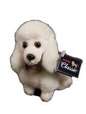 "2003 CLASSIC AURORA Plush Lifelike Mini 4.5"" White Poodle With Tags Dog Sitting"