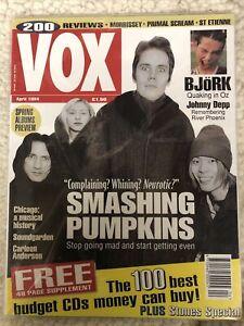 VOX MAGAZINE APRIL 1994 Smashing Pumpkins BJORK MORRISSEY  LIKE NEW