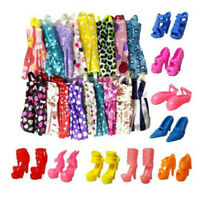 10xHandmade Dress Doll Clothes + 10xShoes High Heels For  Doll Kid.AU