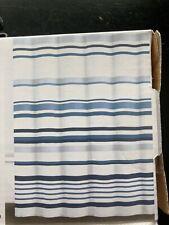 "Dkny Shower Curtain Water Stripe Urban Lines Blue White 72"" x 72"""
