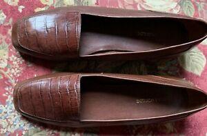 ENZO ANGIOLINI Liberty Dark Cognac Leather Flats 8.5 M