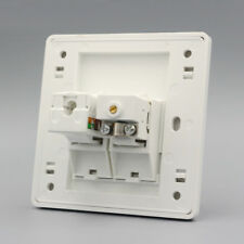 One Port TV & RJ45 Cat6 Network Lan Outlet Connector Panel Faceplate Home Plug