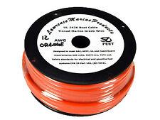 12 Gauge Tinned Marine Primary Wire / Orange / 50 Foot Reel