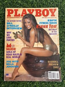 Playboy Magazine May 2002 Fitness Queen Kiana Tom - Great Condition *CF intact*