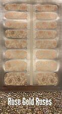 Color Creation Nails Real Nail Polish Strips ( Rose Gold Rose Overlay )