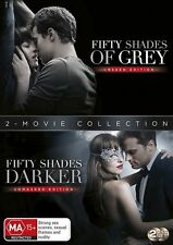 Fifty Shades Of Grey / Fifty Shades Darker (DVD, 2017, 2-Disc Set) NEW