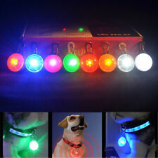 Pet Dog Cat LED Flashing Collar Tag Clip Buckle Safety Night Light Pendant ST842