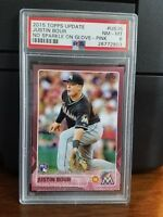2015 Topps Update Justin Bour Marlins Pink Rookie Card #US35 PSA 8 NM-MT POP 1