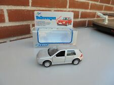 WELLY 1:36/38 Scale Vintage Pull Back VW VOLKSWAGEN GOLF GTI SILVER NM BOX