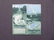Reiseprospekt Göppingen, Schwäbische Alb, Schnellzugstation, von 1938