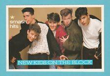 MUSIC  -  SMASH  HITS  POSTCARD  -  NEW  KIDS  ON  THE  BLOCK