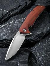 CIVIVI Incite Liner Lock Knife Cuibourtia Wood Handle Plain Satin D2 Blade C908D
