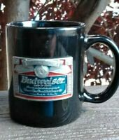 Budweiser Beer Vintage Coffee Cup Mug Unique Pewter Metal Decal Collectors