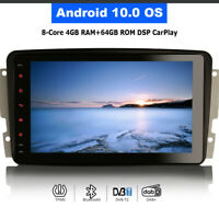 """8"""" Android 10 DAB Autoradio GPS Navigation For Mercedes CLK A209 C209 W209 Viano"""