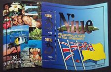 Niue 1999  25th Anniv of Self Government Mini Sheet. MNH.