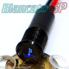 SPIA LED 12mm CON SIMBOLO TEMPERATURA ACQUA 12V ALLUMINIO NERO indicator light
