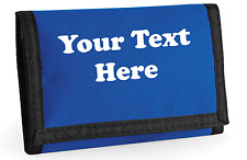 Personalised Mens Boys Ripper Wallet Bagbase Tri Fold Travel Sports Gift Trifold