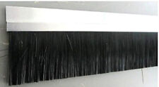 1m Streifenbürste 50mm Bürstendichtung Alu Profil Türbürste Torbürste Türbesen