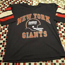 VTG 80's NFL New York Giants Football XL Jersey T-shirt Helmet Logo 7 USA Made
