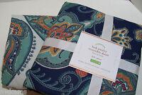 Pottery Barn Leah Paisley Reversible Cotton Full Queen Duvet Cover 2 Shams New