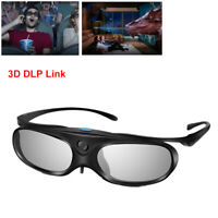 3D Glasses Active Shutter DLP Link 96-144HZ Stereo For Acer DLP Projectors BenQ