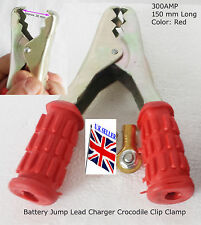 BATTERY JUMP LEAD CHARGER CROCODILE CLIP CLAMP HEAVY DUTY  CONNECTOR- ACCU RED