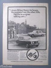 R&L Ex-Mag Advert: Alfa Romeo 1750 GT Veloce and 1750 Saloon Car