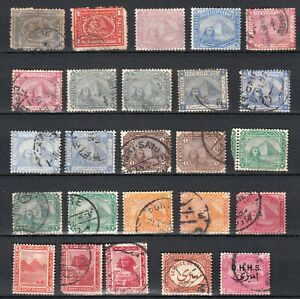 EGYPT 1874 1914   lot of 25  stamps  british colonies