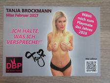 Tanja Brockmann original handsignierte Autogrammkarte TT2,1