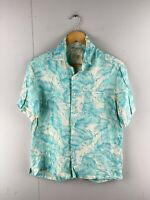 Tasso Ella Island Men's Vintage Short Sleeve Hawaiian Shirt - Blue - Size Small
