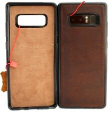 Estuche De Cuero Genuino para 8 Samsung Galaxy Note soporte coche magnético suave cubierta de