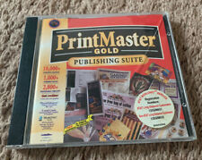 PrintMaster Gold Publishing Suite 4.0 (PC, 1997) Windows Mindscape CPU Software