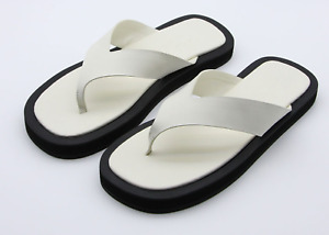 Handmade] Mens Shoes Ginza Sandals Row Slide Flip Flop Leather