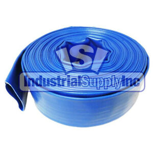 Stanios 4502-1000 Reinforced Blue PVC Lay Flat 1-Inch Water Discharge Hose with 1-Inch Threaded Couplings 10 Feet