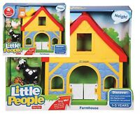 Fisher Price Little People Farmhouse Set 1+ Toy Farmer Hen Cow Horse Chick Play