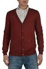Hugo Boss Mardon-D Men's Brown 100% Wool Cardigan Sz US M IT 50