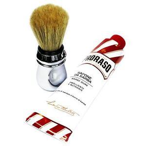 PRORASO Shaving Cream Shea Butter 150ml + Large Shaving Brush DEAL