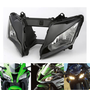 Clear Len Front Headlight Headlamp Fit For Kawasaki Ninja ZX-10R ZX10R 10R 11-15
