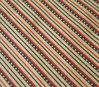 Patriotic Stars BTY Fabric Traditions Navy Red Ecru Star Diagonal Stripe