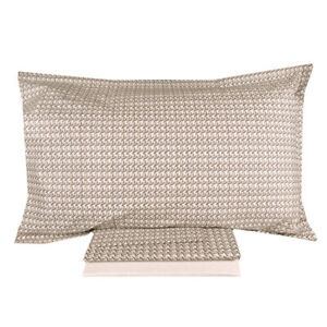 ZUCCHI complete sheets in VOLTA pied and poule dove gray percale