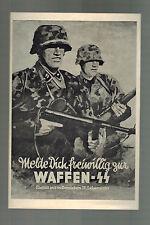 Mint WW 2 Germany Waffen SS Soldiers Postcard 1942