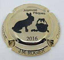 Capsule de champagne Rogier Pâques 2016 Plaqué or. TE