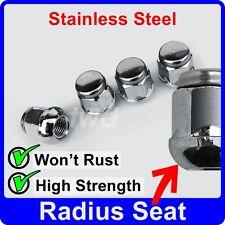 4 x ALLOY WHEEL NUTS FOR HONDA RADIUS SEAT M12x1.5 STAINLESS CAP LUG BOLT [J10]