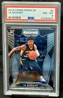 2019 Prizm Memphis Grizzlies RC Star JA MORANT Rookie Basketball Card PSA 8 NM