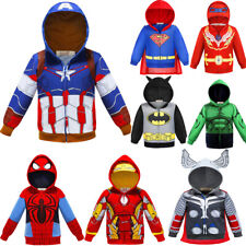 Baby Kids Toddler Boys Superheroes Hooded Jacket Coat Outfit Fancy Dress Clothes